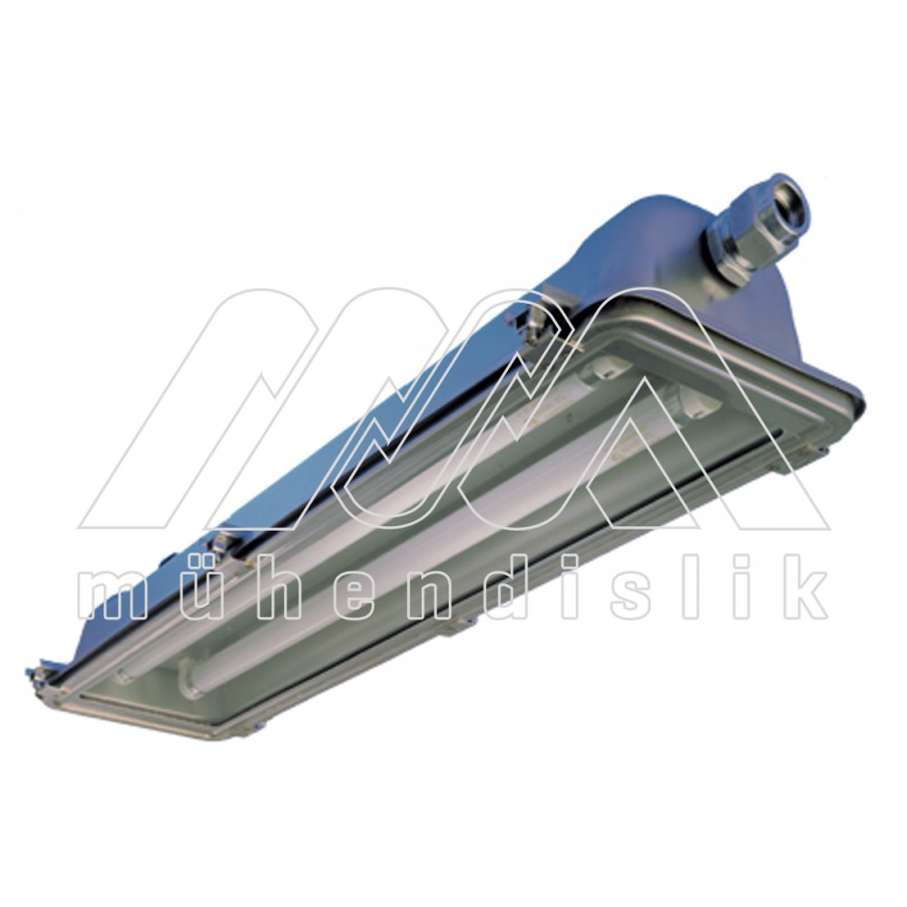 Ex proof fluorescent lighting fixtures stainless steel type technor