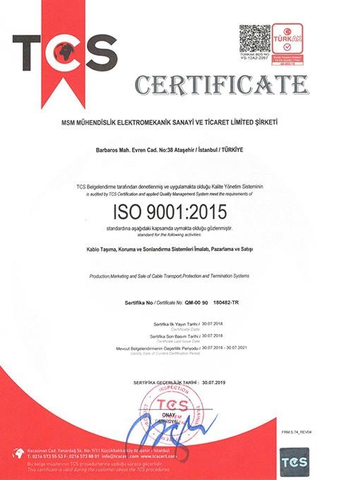 MSM ISO BELGESI